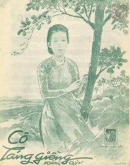 """Bìa nhạc """"Cô láng giềng"""" xuất bản trước 1975. Ảnh: trungtamasia.com"""