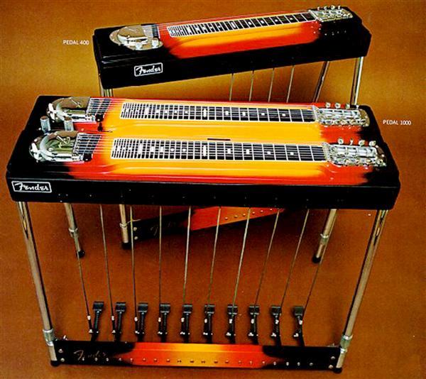 Cây đàn Fender 1000 Steel Guitar (hình cận), mà theo Lâm Hào là khó chế tạo nhất. Ảnh: TL (TheThaoVanHoa.vn)